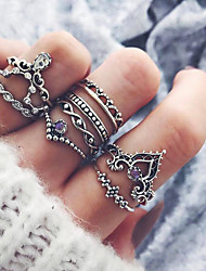 cheap -Women's Rhinestone Fashion Hip-Hop Alloy Hamsa Hand Jewelry Gift Daily