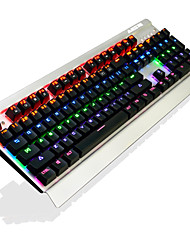abordables -AJAZZ AK27Black Switches Con Cable retroiluminación de color multi Interruptores Negro 104 Teclado mecánico Retroiluminado Puerto USB