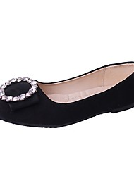 cheap -Women's Shoes PU Summer Ballerina Flats Flat Heel Round Toe Pearl for Dress Black Gray Pink Almond
