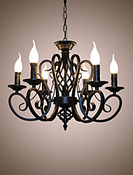 cheap -European Style Chandeliers Living Room Dining Lights Simple Originality Innovative Candles 6 Heads  Lamps