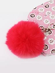 saco / telefone / chaveiro charme cartoon brinquedo pele bola fox pele celular encantos
