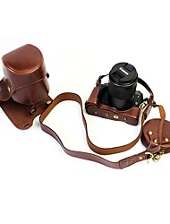 Dengpin PU Leather Camera Case Bag Cover for Canon EOS M5 55-200mm lens (Assorted Colors)
