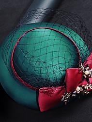 Недорогие -тюль шифон ткань шелковые сетки факсимиляторы головной убор элегантный стиль