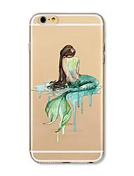 abordables -Funda Para Apple iPhone X iPhone 8 Plus Transparente Diseños Cubierta Trasera Chica Sexy Caricatura Animal Suave TPU para iPhone X iPhone