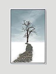 billige -Landskab Indrammet Oliemaleri Vægkunst,Polystyrene Materiale Med Ramme For Hjem Dekoration Ramme Kunst Stue Spisestue 1 Stykke