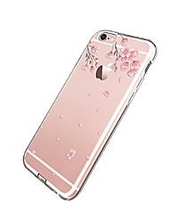 billige -Etui til iPhone 7 6 blomstermønster tpu blødt ultra-tyndt bagcover cover til iPhone 7 plus 6 6s plus se 5s 5 5c 4s 4