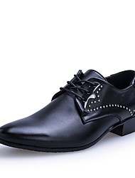 Men's Shoes Synthetic Microfiber PU Spring Fall Light Soles Formal Shoes Driving Shoes Oxfords Lace-up For Wedding Casual Party & Evening