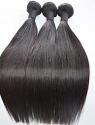cheap -20inch Straight Human Hair Extension Natural Black Silk Straight Human Hair Weaves 100% Human Hair