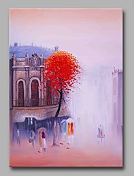 cheap -SaiKung Story 100% Hand Painted Contemporary Oil Paintings Modern Artwork Wall Art for Room Decoration