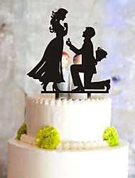 Cake Topper Classic Couple Plastic With PVC Bag Wedding Reception