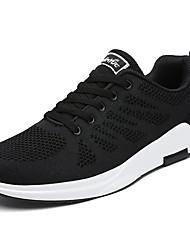 preiswerte -Herren Schuhe PU Frühling Herbst Komfort Sportschuhe Walking Schnürsenkel Für Sportlich Schwarz Dunkelblau Grau