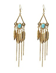 MISSING U Women's Drop Earrings Tassel Bohemian Turquoise Alloy Jewelry For Gift Daily Casual Holiday Going out