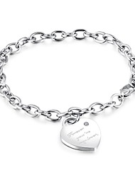 cheap -Korean version of heart-shaped pendant bracelet titanium steel rose gold women's chain bracelet bracelet anti-allergy accessories