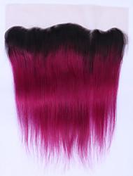 Capelli di beata non remy ombre burgundy merletto diritto dei capelli diritti brasiliani 12 a 16inch due tono 1b / 99j chiusura dei