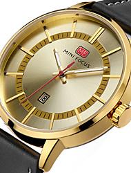 preiswerte -Herrn Modeuhr Armbanduhr Einzigartige kreative Uhr Armbanduhren für den Alltag Sportuhr Militäruhr Quartz Kalender Echtes Leder Band