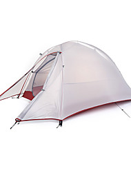 Недорогие -Naturehike 1 человек Туристические палатки На открытом воздухе Водонепроницаемость, Дожденепроницаемый, Хорошая вентиляция Двухслойные зонты Палатка для Рыбалка Пляж  Походы Фиберглас