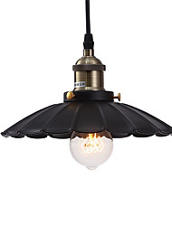 cheap -Vintage Pendant Lights Loft Black Metal Shade Dining Room Pendant Lights Kitchen Bar Light Fixture