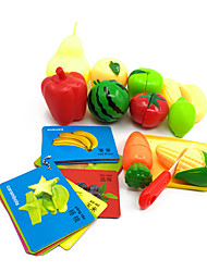 Недорогие -Магнитные игрушки Игрушка кухонные наборы Игрушечная еда Ролевые игры Обучающая игрушка Игрушки Овощи Продукты питания Фрукт Пластик ABS