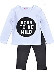 Boys' Clothing SetsCotton Spring Fall Long Sleeve Clothing Set Born To Be Wild Kids Clothes Set