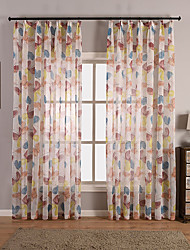 Rod Pocket Grommet Top Tab Top Double Pleated Pencil Pleated Curtain Rustic , Butterfly Living Room Material Sheer Curtains Shades Home