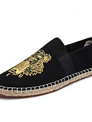 economico -Da uomo Sneakers Comoda Tessuto Primavera Autunno Casual Piatto Oro Beige Verde Piatto