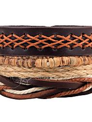Homme Femme Bracelets Bracelets en cuir Mode Ajustable Personnalisé Pierre Fait à la main Cuir Attrapeur de Rêve Bijoux Pour Quotidien