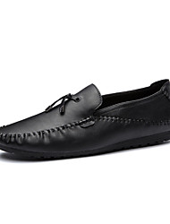 Men's Loafers & Slip-Ons Comfort Spring Fall Leatherette Casual Office & Career Party & Evening Tassel(s) Flat HeelScreen Color Black