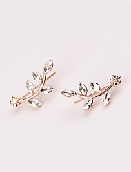 cheap -Women's Stud Earrings Rhinestone Fashion Personalized Costume Jewelry Imitation Diamond Alloy Leaf Jewelry For Daily Casual Street