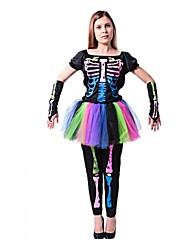 Squelette/Crâne Zombie Cosplay Une Pièce/Robes Féminin Unisexe Halloween Carnaval Le jour des morts Fête / Célébration Déguisement