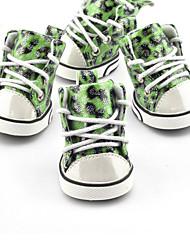 abordables -Perro Zapatos y Botas Casual/Diario A Prueba de Agua Deportes Leopardo Naranja Morado Verde Azul Para mascotas