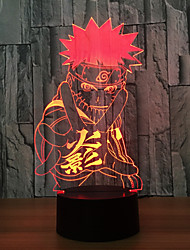 Liupurhome Dragon Ball Z Figure 3D Table Lamp Night Light Super Saiyan Goku Colorful