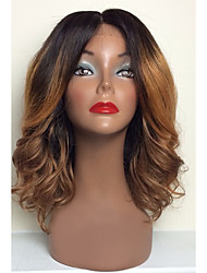 cheap -Human Hair Full Lace Wig Natural Wave Loose Wave 130% Density 100% Hand Tied African American Wig Natural Hairline Ombre Hair Short