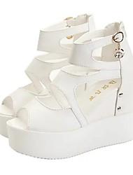 economico -Da donna Sandali Footing Comoda Cinturino alla caviglia Club Shoes PU (Poliuretano) Primavera Estate Autunno CasualPiù materiali Nastro a