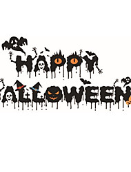 Halloween Festival Crow Little Devil Wall Stickers Ghost Pumpkin Happy Halloween Quote Wall Decals Home Decor For Living Room