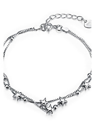 Недорогие -Жен. Strand Браслеты Бижутерия Базовый дизайн Стерлинговое серебро В форме звезды Бижутерия НазначениеСвадьба Для вечеринок Обручение