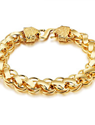 cheap -Men's Chain Bracelet Fashion Gothic Rock Gold Plated Line Jewelry Club Street Costume Jewelry Gold
