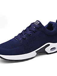 cheap -Men's Athletic Shoes Running Comfort Tulle Spring Fall Casual Outdoor Lace-up Platform Gray Dark Blue Black 3in-3 3/4in