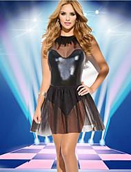 cheap -Women's Leather Dress Skirt Cosplay Costume