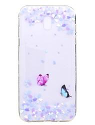 economico -Custodia Per Samsung Galaxy J7 (2017) J3 (2017) Transparente Fantasia/disegno Custodia posteriore Farfalla Fiore decorativo Morbido TPU