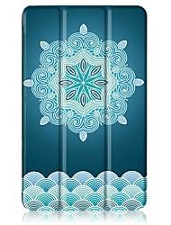 economico -Modello di pittura cassa di cuoio in tre pieghevole con supporto per huawei mediapad t3 pc da tavolo da 8 pollici