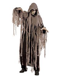 cheap -Grim Reaper Cosplay Costume Men's Women's Halloween Carnival Day of the Dead Festival / Holiday Halloween Costumes Brown Vintage