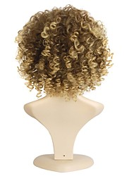 cheap -African Blonde Brown Wig Fashion Style High Temperature Wire Short Deep Curly Synthetic Hair Wig