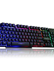 RUYINIAO V-8 Backlit Game Keyboard USB Cable 104 Keys Suspension Keycap