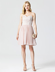 cheap -Princess Sweetheart Short / Mini Chiffon Lace Cocktail Party Dress with Pleats by TS Couture®