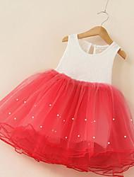 Princess Knee Length Flower Girl Dress - Cotton Polyster Jewel Neck by Bflower