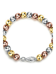 Women's Girls' Chain Bracelet Crystal Friendship Fashion Punk Rock Floral Silver Plated Ball Jewelry For Wedding Party Birthday