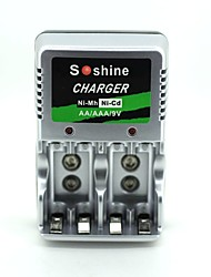Soshine  AA/AAA/9V   European plug Ni-mh/Ni-cd