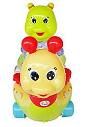 Недорогие -Игрушка с заводом Игры с блоками Игрушки Мерцание улитка Пластик Куски Универсальные Подарок