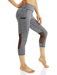 Women's Running Tights Gym Leggings Quick Dry Leggings for Running/Jogging Hiking Exercise & Fitness Polyester Gray S M L XL
