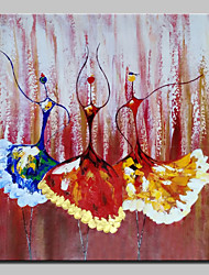 Large Size Hand Painted Dance Girl Oil Painting On Canvas Wall Art Pictures For Wall Decor No Frame